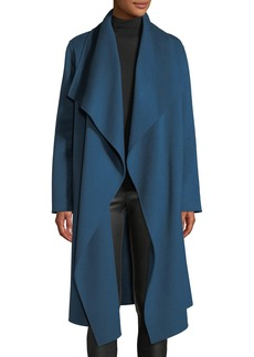 Lafayette 148 Monico Draped Cashmere Coat