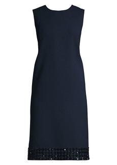 Lafayette 148 Morganna Embellished Hem Sheath