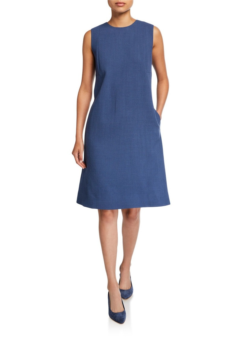 Lafayette 148 Morganna Nouveau Crepe Sleeveless Dress