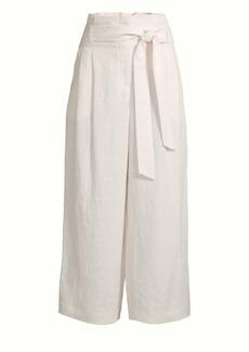 Lafayette 148 Morris Wide-Leg Paperbag Pants
