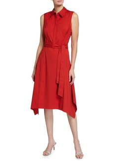 Lafayette 148 Moxie Sleeveless Collared Dress
