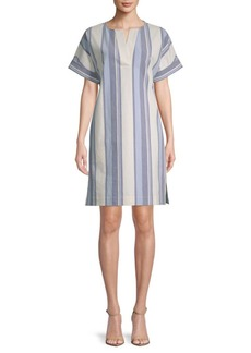 Lafayette 148 Nazeen Striped Shift Dress