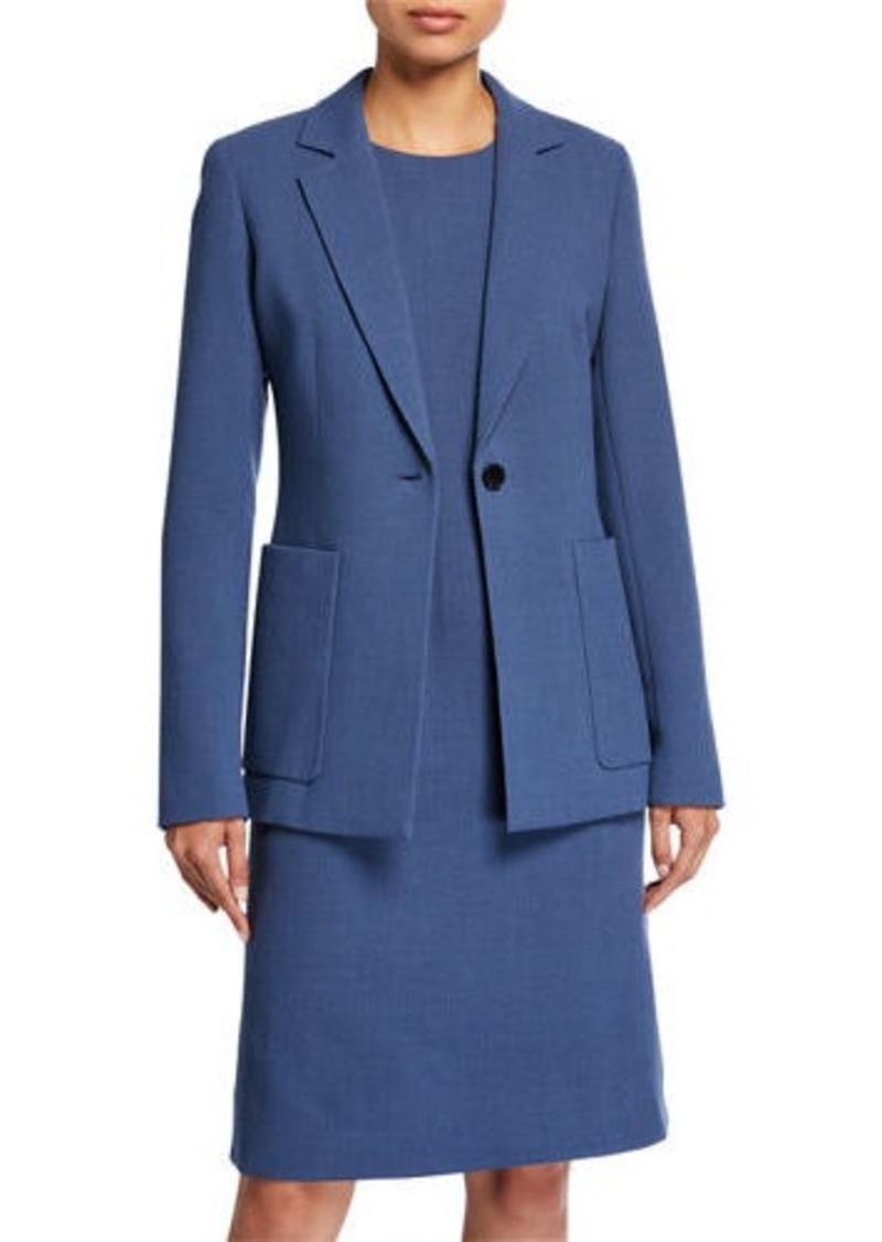 Lafayette 148 Nazelli Nouveau Crepe One-Button Jacket