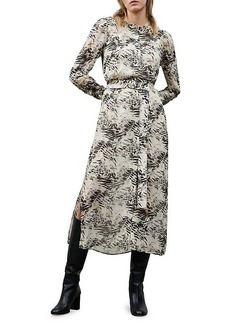 Lafayette 148 Neilson Graphite Print Midi Dress