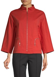 Lafayette 148 Nelly Stretch-Cotton Jacket
