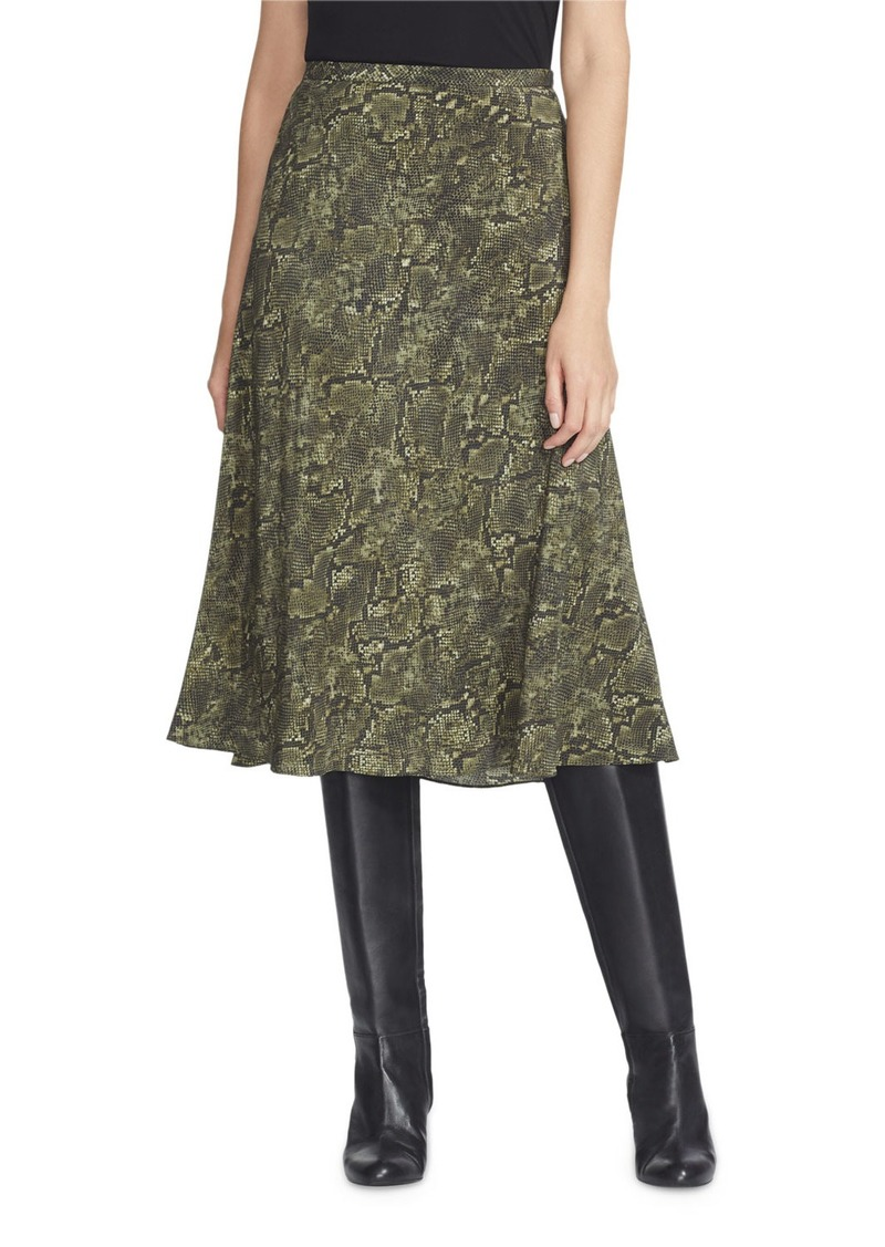 Lafayette 148 Neyla Sophisticated Snake-Print Silk Skirt