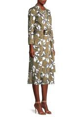 Lafayette 148 Nicholas Floral Belted Coat