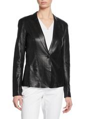 Lafayette 148 Nikala Napa Lambskin Perforated Leather Jacket