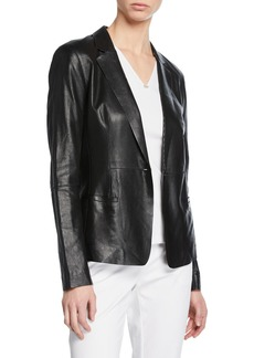Lafayette 148 Nikala Napa Lambskin Perforated Leather Jacket