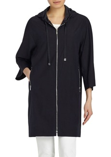 Lafayette 148 Niles Hooded Silk Jacket