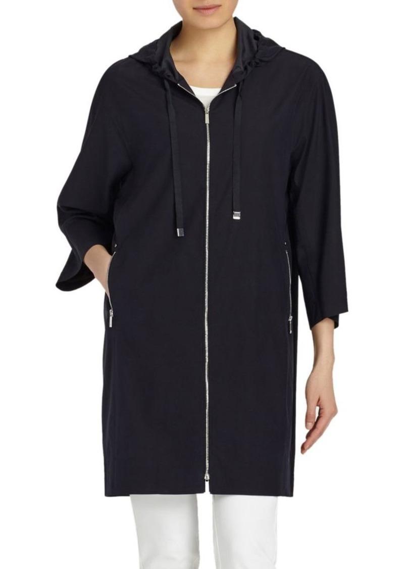 Lafayette 148 Niles Hooded Silk Jacket
