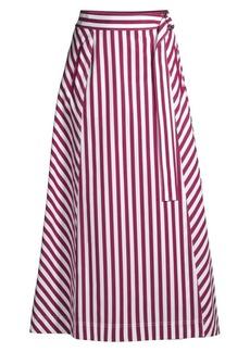 Lafayette 148 Nimah Strada Striped Ankle Skirt