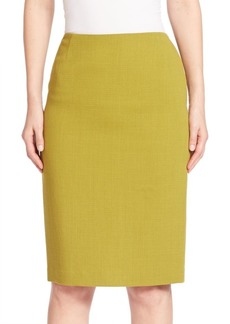 Lafayette 148 Nouveau Crepe Wool Pencil Skirt