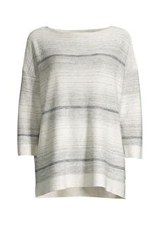 Lafayette 148 Ombre Linen-Blend Sweater