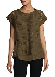 Lafayette 148 Open-Knit Cashmere Sweater