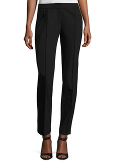 Lafayette 148 Orchard Stretch-Knit Straight-Leg Pants