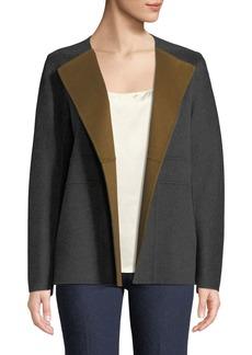 Lafayette 148 Oriana Two-Tone Double-Face Jacket
