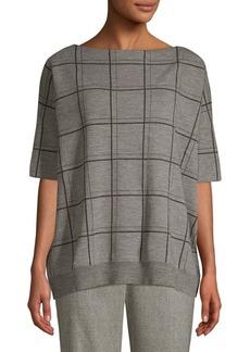 Lafayette 148 Oversize Wool Jacquard Sweater