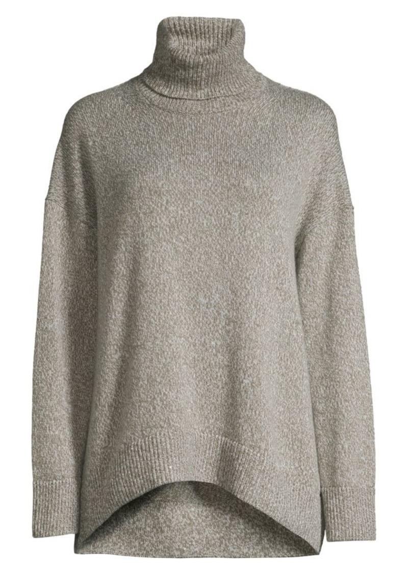 Lafayette 148 Oversized Cashmere Turtleneck Sweater