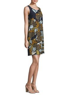Lafayette 148 Palmer Floral Cloque Shift Dress