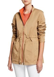 Lafayette 148 Palomina Eclipse Outerwear Reversible Zip-Front Jacket