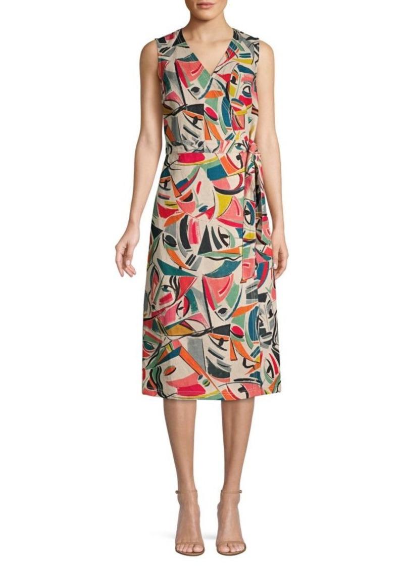 Lafayette 148 Pammie Sleeveless Wrap Dress