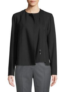 Lafayette 148 Paolina Wool Zip-Front Jacket