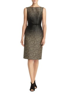 Lafayette 148 Paulette Belted Sheath Dress