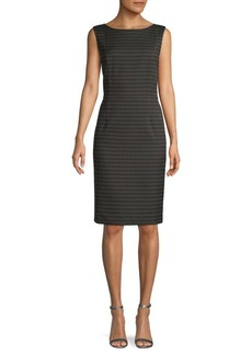 Lafayette 148 Paulette Geometric Sheath Dress