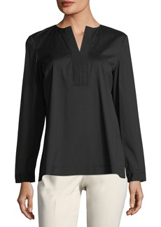 Payton Long-Sleeve Poplin Blouse