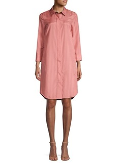 Lafayette 148 Peggy Striped Shirtdress