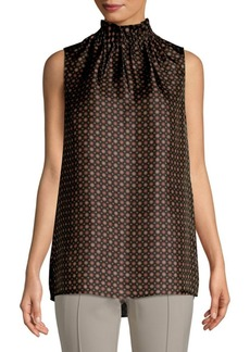 Lafayette 148 Percy Printed Silk Blouse
