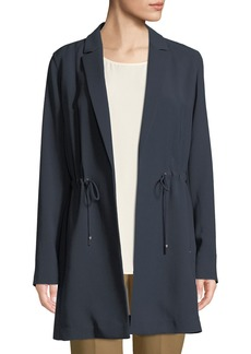 Lafayette 148 Pierre Finesse-Crepe Jacket w/ Adjustable Cord