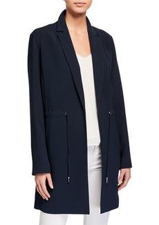Lafayette 148 Pierre Finesse-Crepe Jacket w/ Adjustable Cord