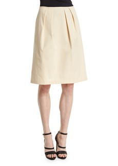 Lafayette 148 Pleated A-Line Skirt