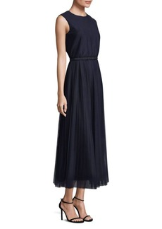Lafayette 148 Pleated Charlotte A-Line Dress