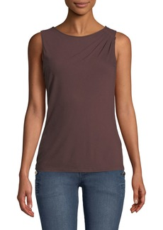 Lafayette 148 Pleated-Shoulder Jersey Tank
