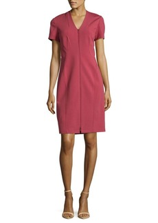 Lafayette 148 Zip Front Sheath Dress