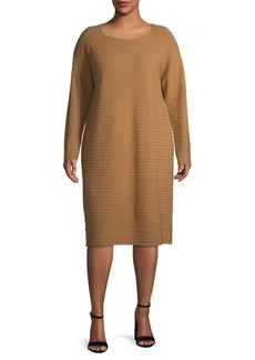 Lafayette 148 Plus Ribbed Wool Dress