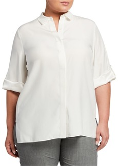 Lafayette 148 Plus Size Jeslyn Silk Blouse