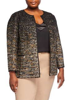 Lafayette 148 Plus Size Karina Ombre Tweed Jacket