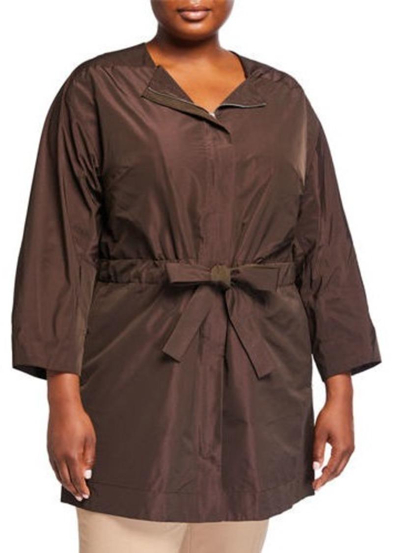 Lafayette 148 Plus Size Stephania Empirical Tech Cloth Jacket