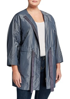 Lafayette 148 Plus Size Stephania Empirical Tech Cloth Jacket