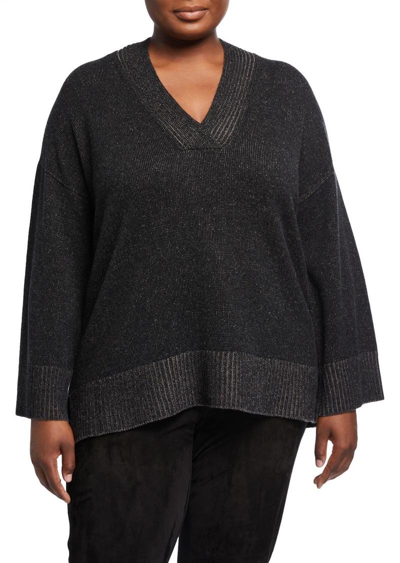 Lafayette 148 Plus Size Vanise Cashmere Sweater