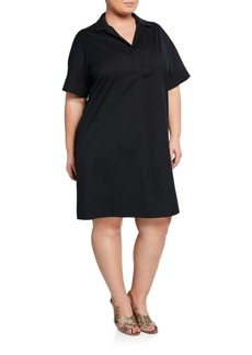 Lafayette 148 Plus Size Zamira Linen Shirtdress