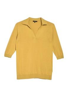 Lafayette 148 Polo 3/4 Sleeve Sweater