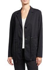 Lafayette 148 Porsha Sander Stripe Jacket w/ Adjustable Cord