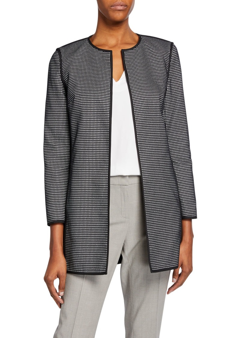 Lafayette 148 Pria Modular Jacquard Open-Front Jacket