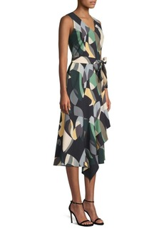 Lafayette 148 Printed Belted Dress