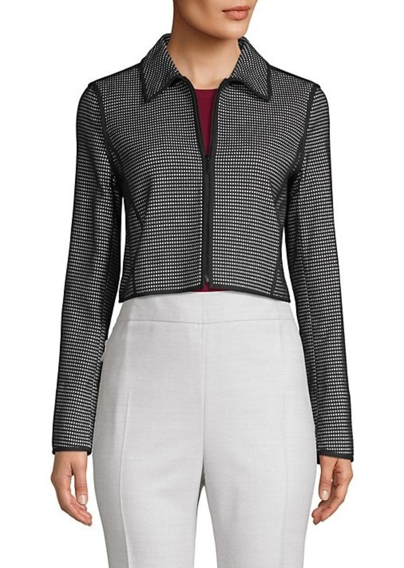 Lafayette 148 Printed Cotton-Blend Cropped Jacket
